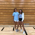Maggie Stief and Anna Rush Compete In Tennis Section Singles