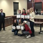 Girls Golf Honored At Township Board Of Commissioners Meeting