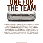 Girls Basketball Boosters Chipotle Fundraiser
