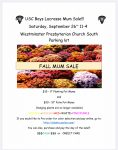 Boys Lacrosse Fundraiser – Mum Sale!