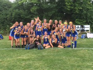 Varsity Field Hockey Celebrates First Win of the Season