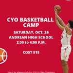 Defending State Champion Boys Basketball Team to Host CYO Basketball Camp
