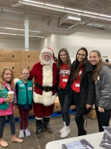 Softball Volunteering at Food Bank 12/14