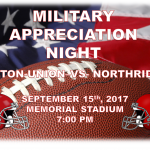 Military Appreciation Night Friday September 15th at Memorial Stadium 7PM