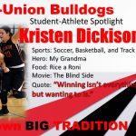 Kristen Dickison M-U Student-Athlete Spotlight