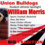 William Morris Student-Athlete Spotlight!