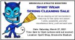 Athletic Boosters Spring Sale – March 27th