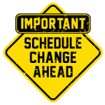 Golf Schedule Change
