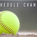 Time Change for Today's Softball Game 3/5/19