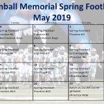 TMHS 2019 Spring Football Calendar