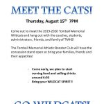 Meet the TMHS Wildcats on August 15th at 7pm!