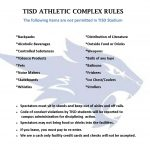 TISD Athletic Complex Rules
