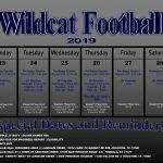 Wildcat Football 9/23-9/28