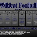 Wildcat Football 10/7-10/12