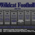 TMHS Football 10/28/2019 – 11/2/2019