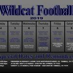 TMHS Football 11/4/19 – 11/9/19