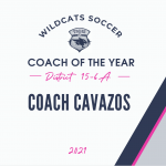 Congratulations Coach Cavazos!!! District 15-6A Coach of the Year!