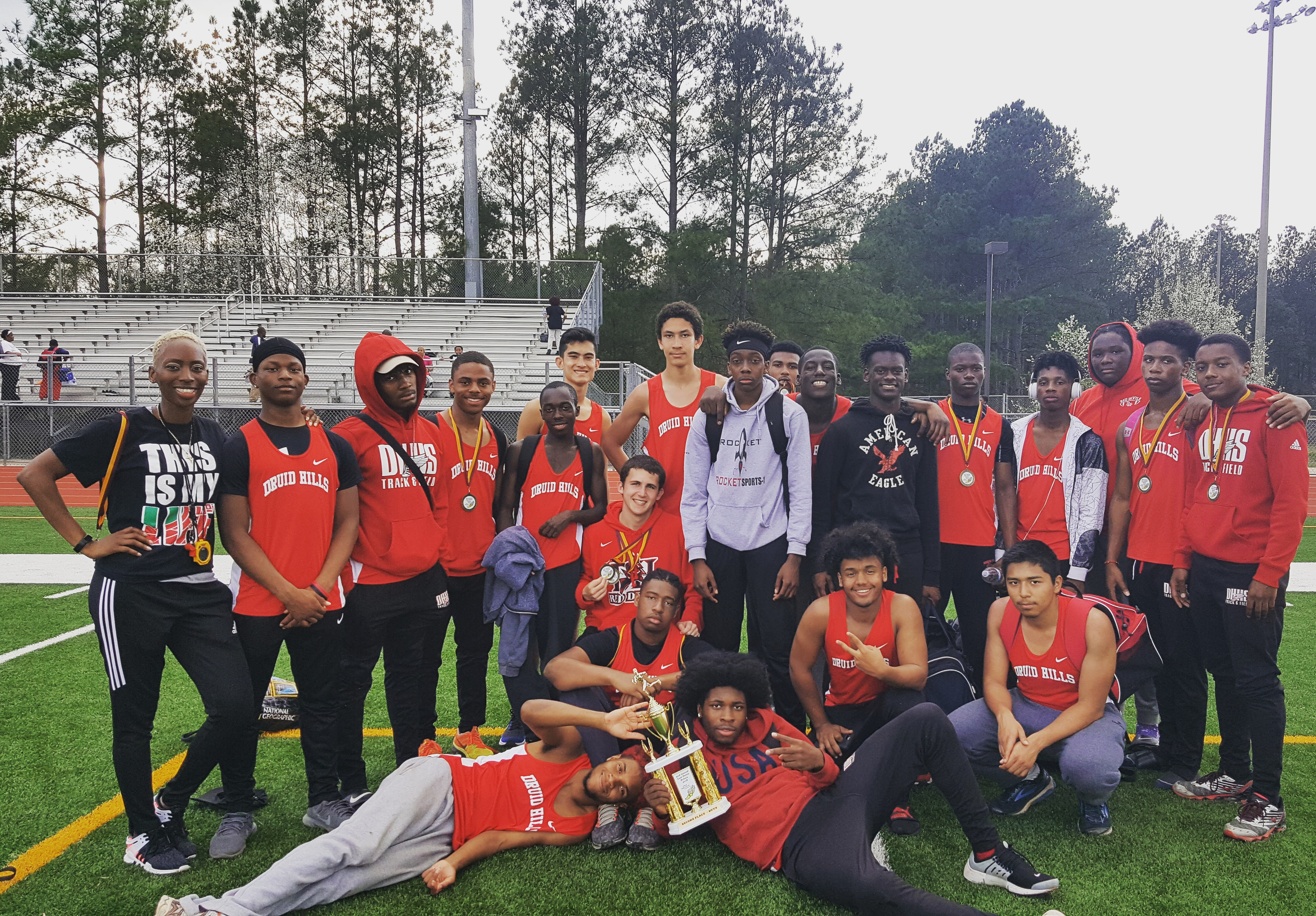 BOYS TRACK FINISHES 2ND AT EAST METRO RELAYS!