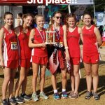 GIRLS XC POSTS 3RD PLACE FINISH!!