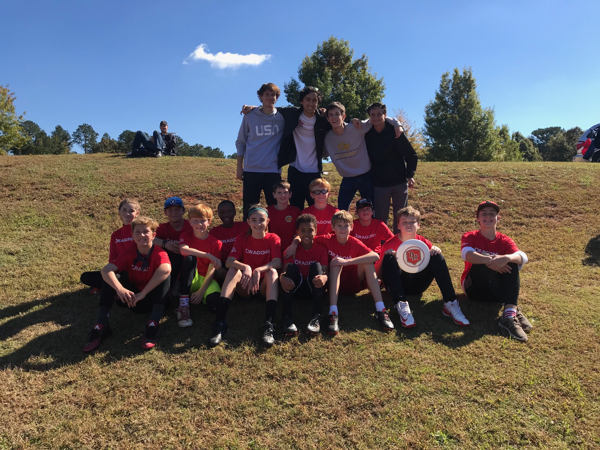 DHMS Ultimate champions, coached by DHHS