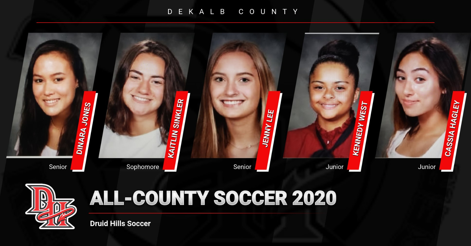 DHHS Varsity Girls Soccer All-County Selections