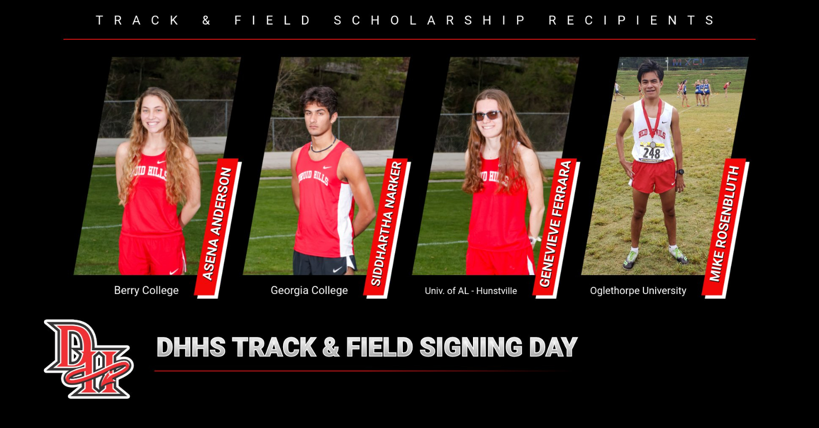 TRACK TEAM EARNS SCHOLARSHIPS