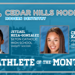 And the Cedar Hills Modern Dentistry Athlete of the Month is….
