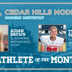 And the Cedar Hills Modern Dentistry November Athlete of the Month is….