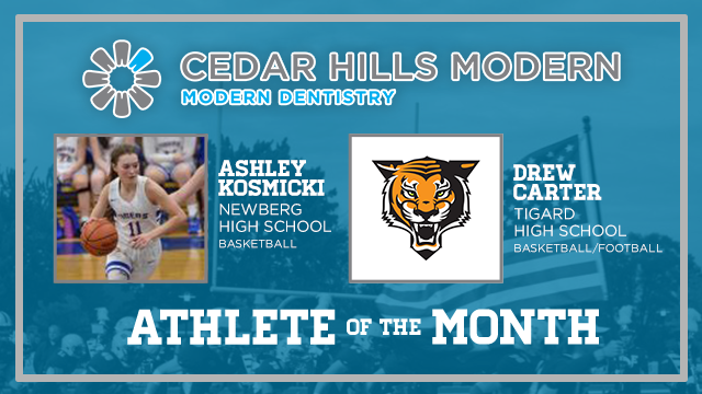 And the Cedar Hills Modern Dentistry December Athlete of the Month is….