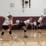 Middle School White Volleyball Team beats Charlton Heston Academy 2 – 1