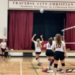Girls MS White Volleyball Team falls to St. Mary 2 – 1