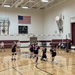Girls Middle School Maroon Volleyball Team beats Northport 2 – 1