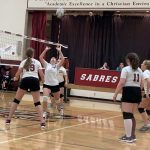 Girls Middle School White Volleyball Team beats Traverse City Bulldogs 2 – 0