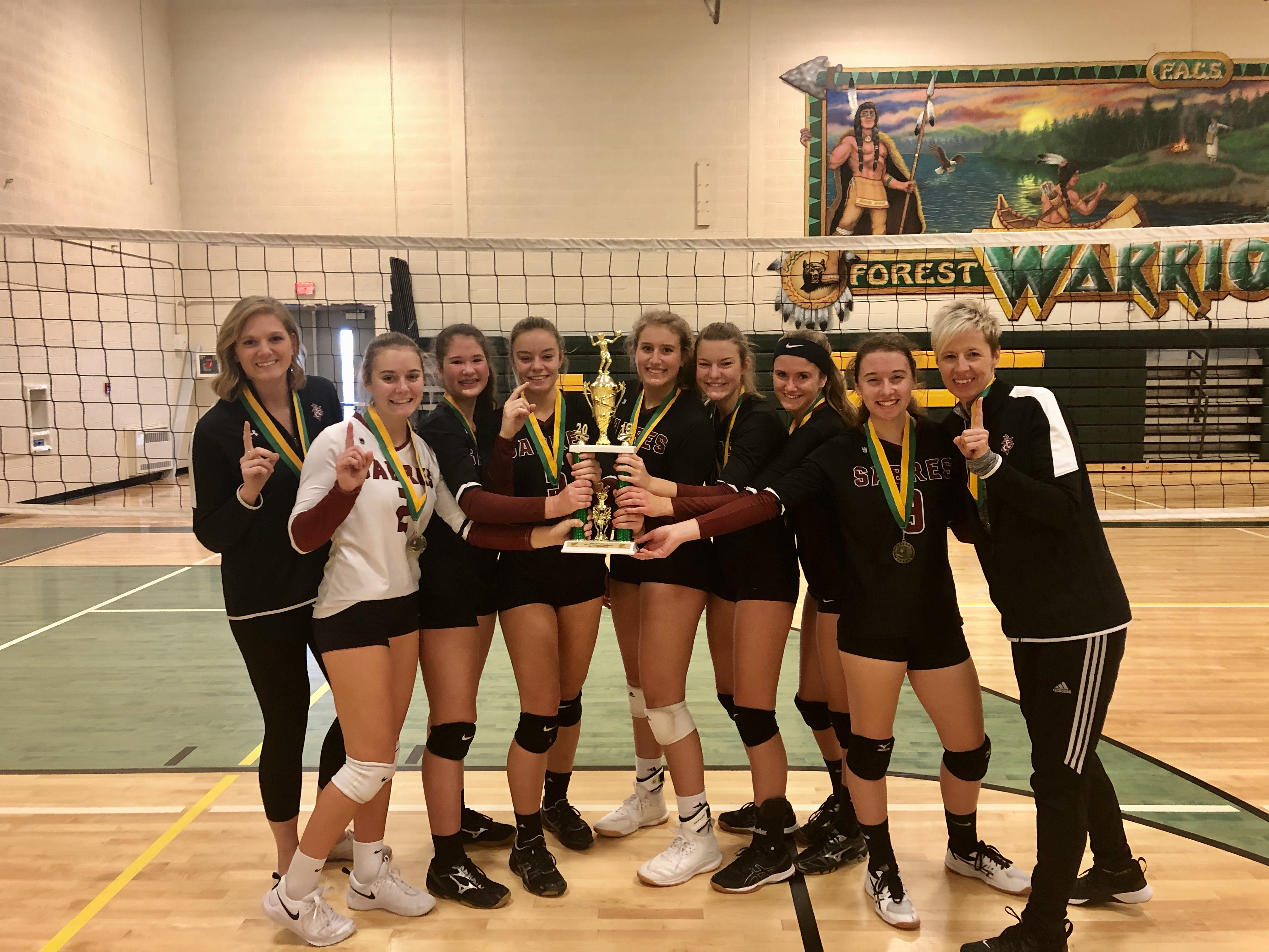 TC Christian Sabres Take Home 1st at the Forest Area Tournament