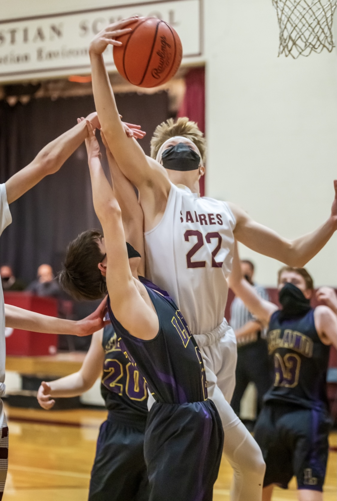Boys Junior Varsity Basketball beats Leland 56 – 36