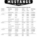 Mustang Nation Weekly Events!