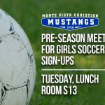 Girls Soccer Pre-Season Meeting Tomorrow!