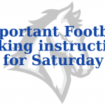 Important Parking Instructions for Saturday's Football game at Rabobank Stadium
