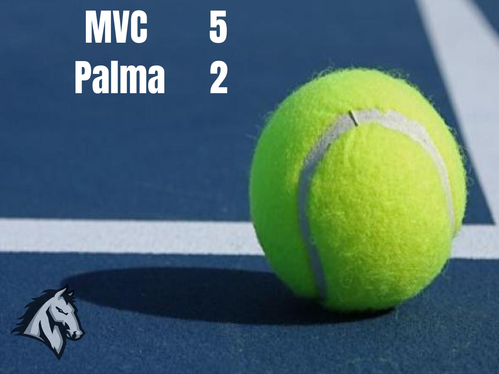 Boys Varsity Tennis defeats Palma 5-2