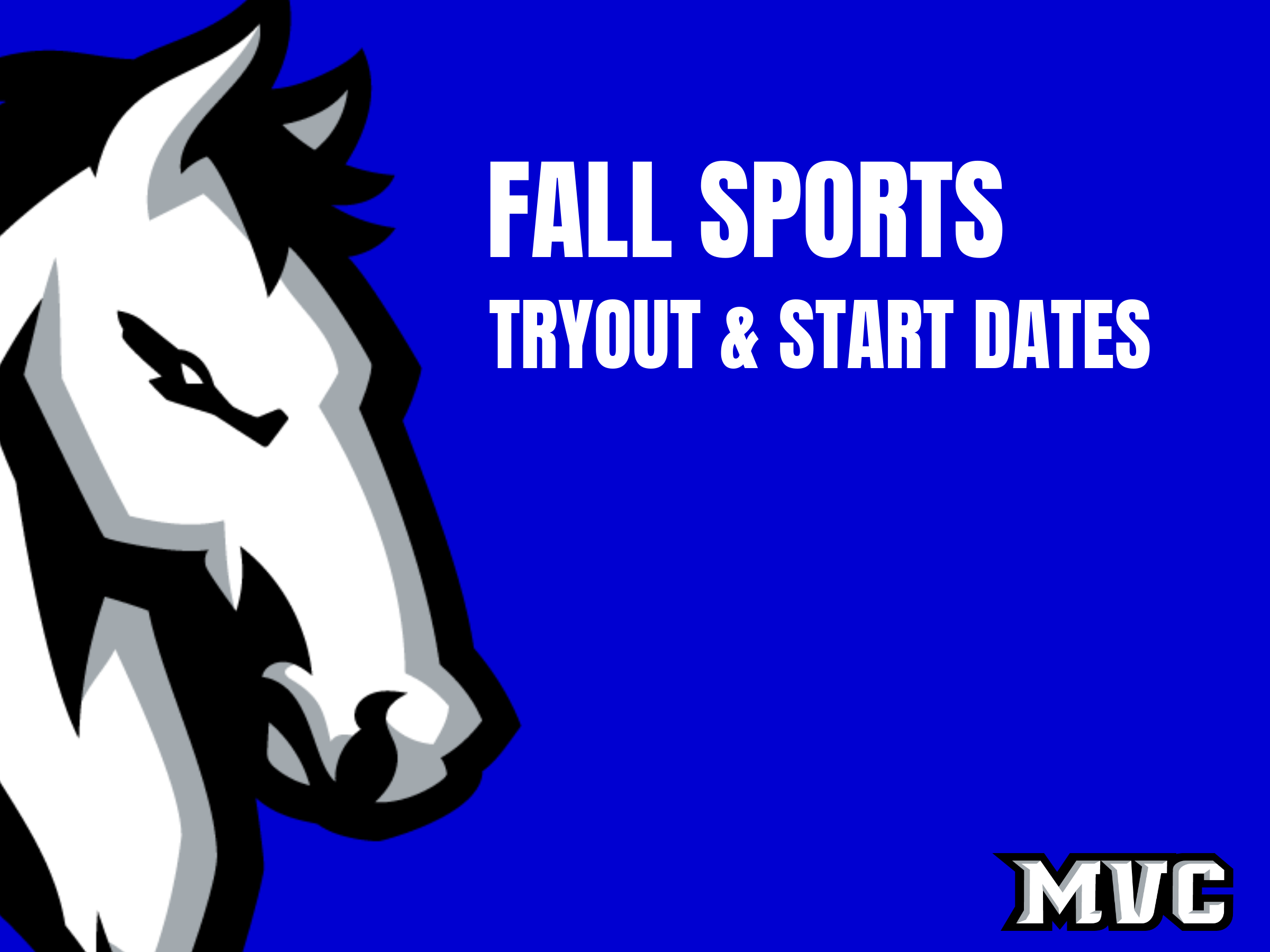 Middle School Fall Sports Tryouts and Start Dates