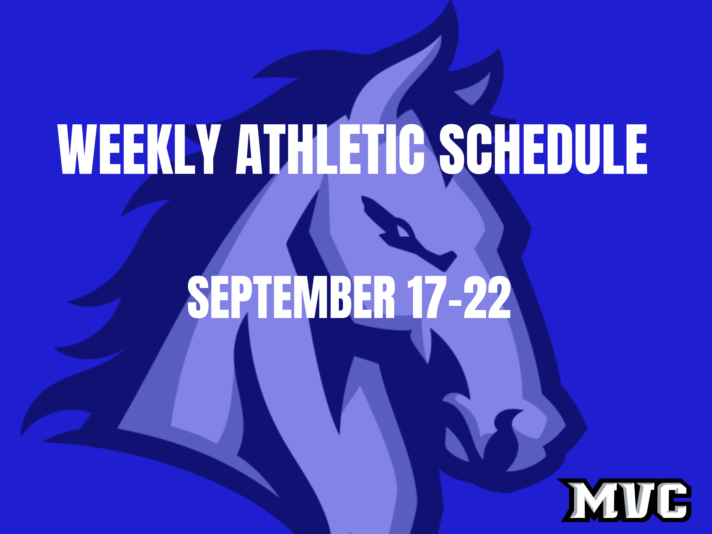 Weekly Athletic Events for September 17-22