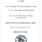 Girls Soccer Pre Season Camp