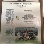 HoF Flashback – CIFSS Champion Boys Tennis Team, 2015