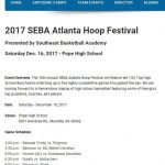 SEBA Basketball Hoop Festival this Saturday