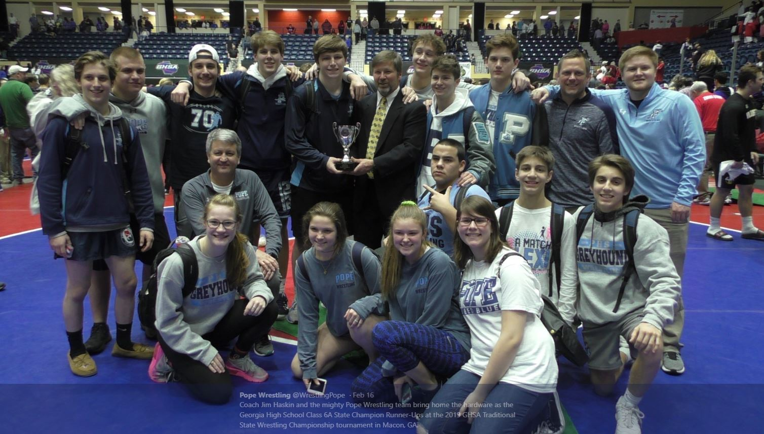 Wrestling 2nd at State Traditional-7 Wrestlers on Podium
