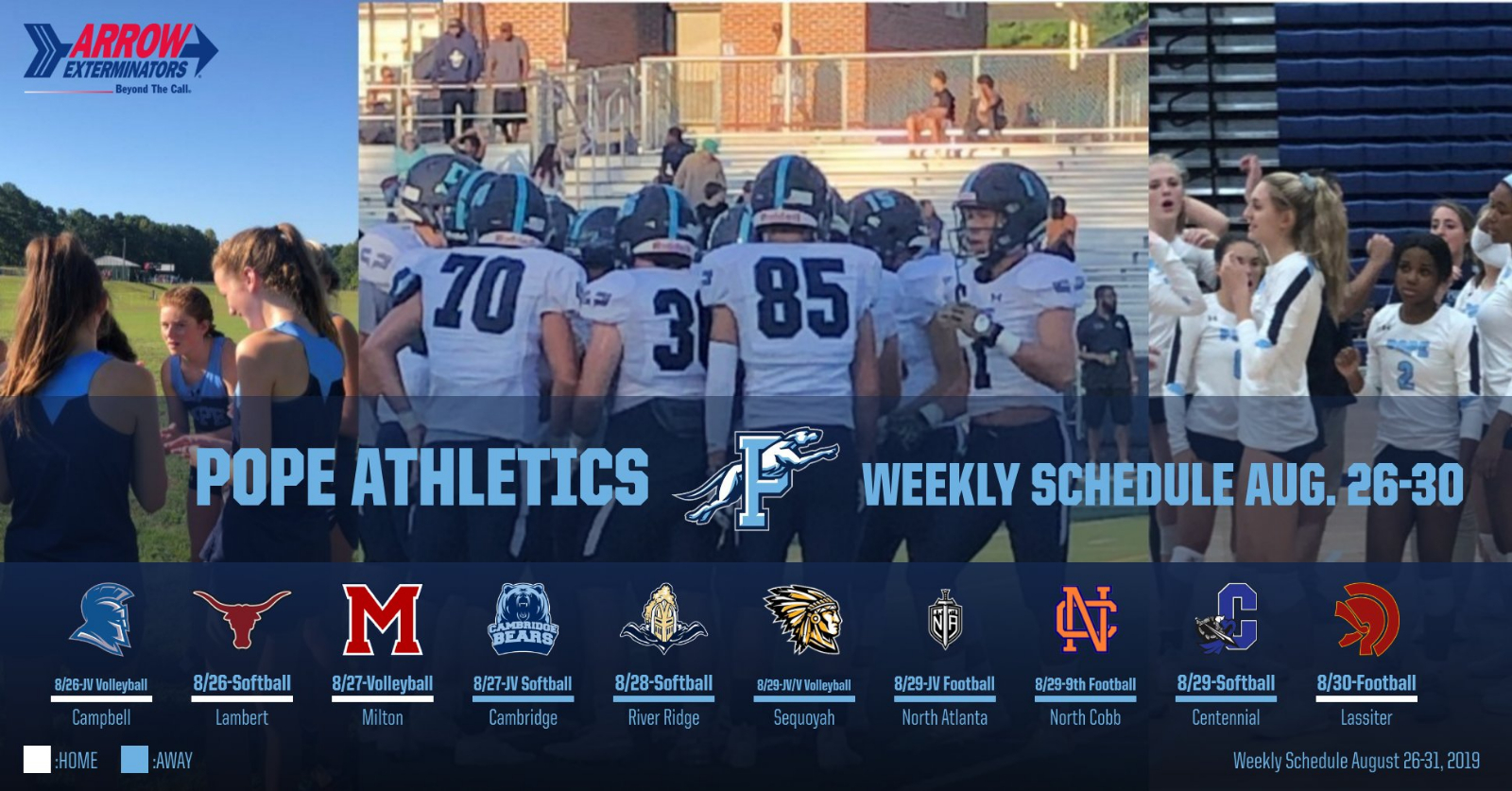This Week in Pope Athletics…Tickets on Sale ONLINE NOW!