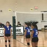 8th Grade girls volleyball vs. Brooke