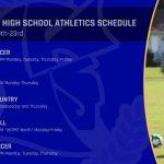 Laurel HS Athletics Practice Schedule 8/19-8/23