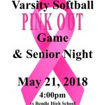 TODAY IS GAME DAY!!! Varsity Softball PINK OUT Game!