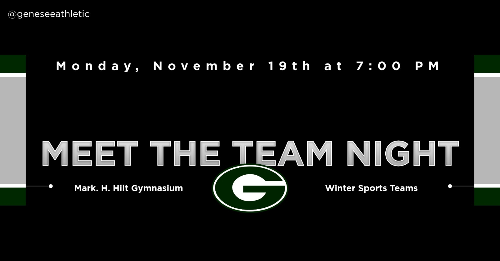 "Winter Sports ""Meet The Team"" Night slated for Monday, November 19th at 7:00 PM"